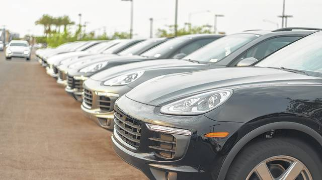 Record-high vehicle sales in 2016 will dive 13 percent from 2017 through 2019, consulting firm AlixPartners predicted, down to to 15.2 million vehicles from 17.5 million.