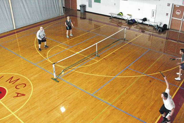 The Lima YMCA has outlined four pickleball courts in their building to accommodate the rise in pickleball popularity. More than 20 pickleball enthusiasts play at the Collett Street courts on Tuesdays, Thursdays and Sundays.