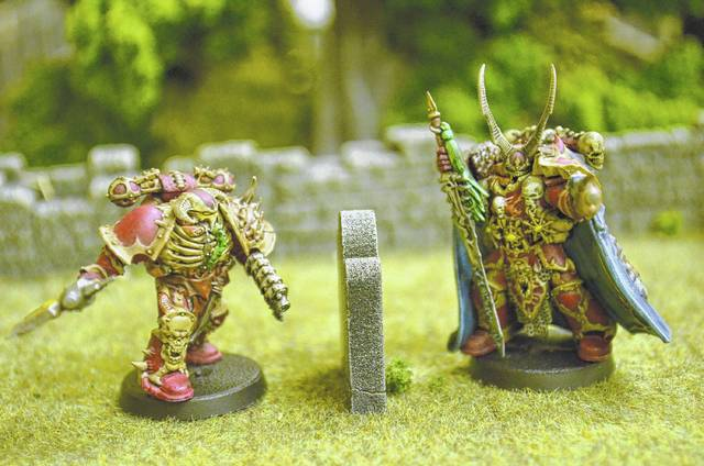 Two of Justin Hertel's favorite wargame miniatures he has painted. These are two figures from his first commissioned job from friend Ryan Harner.