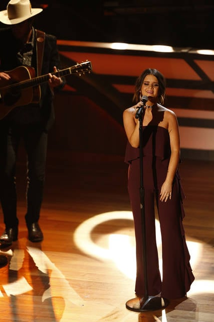 Maren Morris performs during the 11th annual ACM Honors at the Ryman Auditorium on Wednesday in Nashville, Tenn.