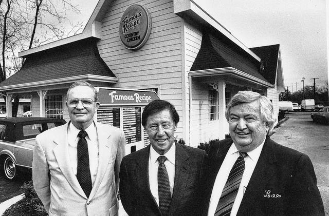 This 1984 photo features Harold Omer, Ray Danner and Lee Cummings. Danner was the owner of Shoney's, which at the time owned the Famous Recipe franchise.