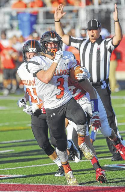 Elida's Cole Harmon will be a main weapon for the Bulldogs out of backfield. The Bulldog senior rushed for 500 yards and is expected to get more touches through the air.