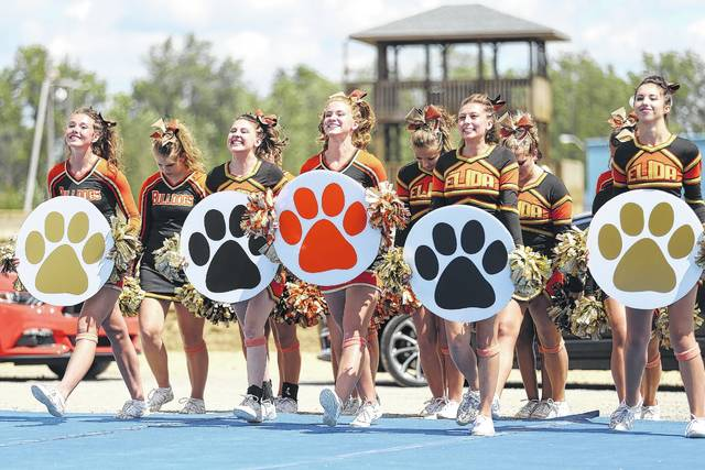 Elida High School cheerleaders compete during last year's show.