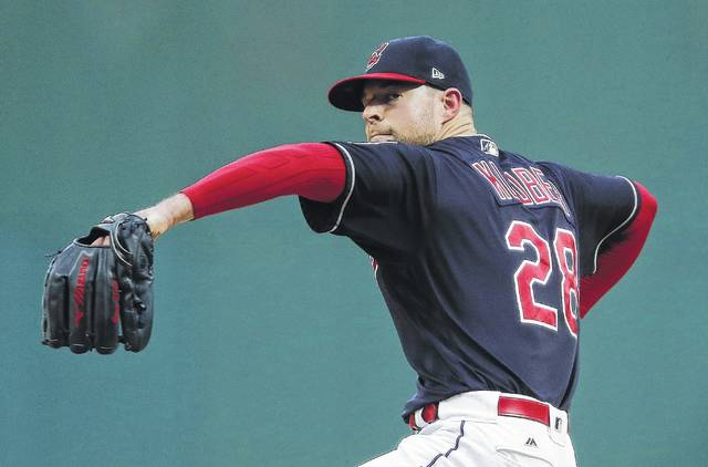 The Indians' Corey Kluber improved to 16-4 on the season Tuesday night in Cleveland.