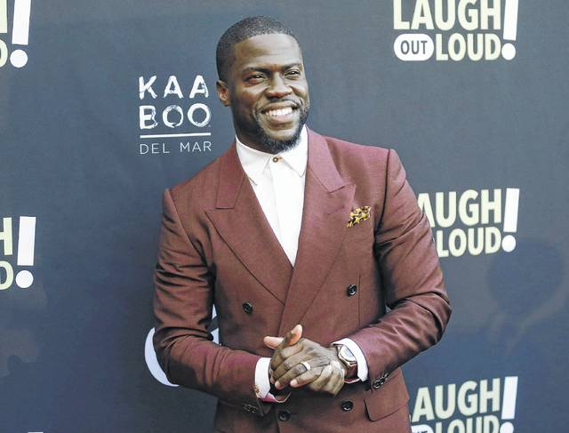 """Kevin Hart poses at Kevin Hart's """"Laugh Out Loud"""" new streaming video network launch event last month in Beverly Hills, Calif. A woman has come forward to say she was involved with Kevin Hart a month ago but is not an extortionist. Montia Sabbag spoke to reporters at her lawyer's Los Angeles office Wednesday following Hart's weekend apology to his pregnant wife and kids via an Instagram video for what he called an error in judgment."""
