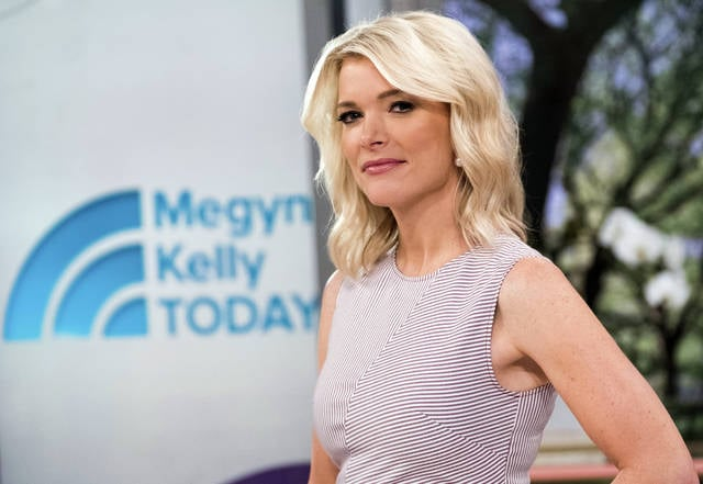 "Megyn Kelly poses on the set of her new show, ""Megyn Kelly Today"" at NBC Studios on Thursday. Kelly's talk show debuts Monday at 9 a.m."