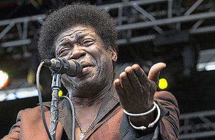 FILE - In this May 9, 2014 file photo, soul singer Charles Bradley performs at the Shaky Knees Music Festival in Atlanta, Ga. His publicist said Bradley died Saturday, Sept. 23, 2017 after a battle with stomach cancer. He was 68. (AP Photo/Ron Harris, File)