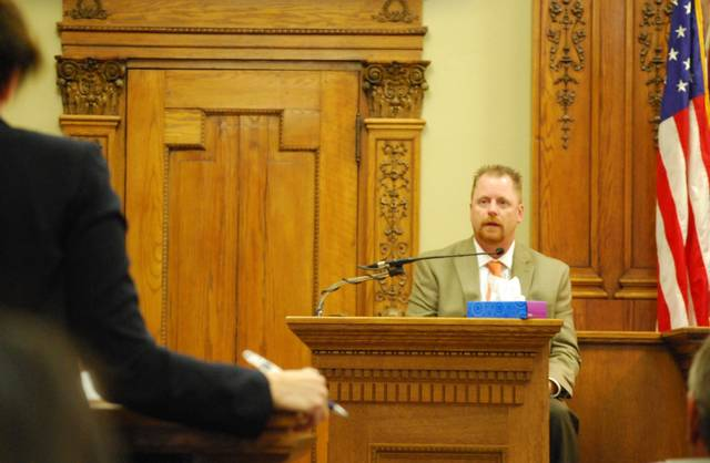 Van Wert County Coroner Dr. Scott Jarvis was one of the witnesses Tuesday in Van Wert County Common Pleas Court in the aggravated murder trial of Christopher Peters.