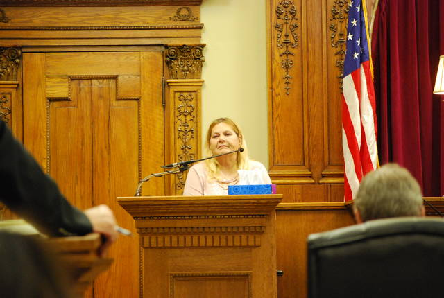 Sandy Conner, apartment manager at The Old Lincoln Inn, testified Tuesday in the aggravated murder trial of Christopher Peters. Peters is accused of killing 15-month-old Hayden Ridinger at the Delphos motel/apartment complex.