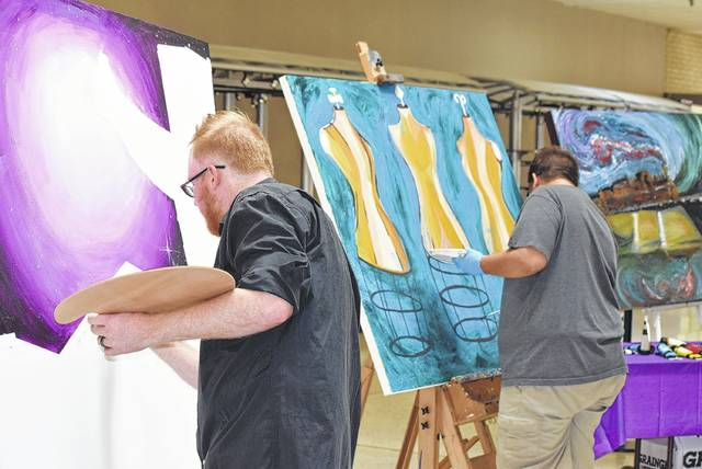 Jason Ernest and Scott Rose bring the canvas project to the Lima Mall.