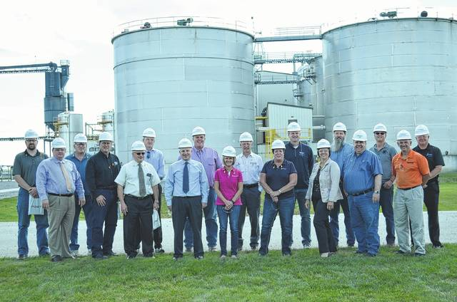 The Ottawa Area Chamber of Commerce Hard Hat Tour was held at POET Biorefining in Leipsic Thursday. Attendees toured the plant and saw first hand how ethanol is processed.