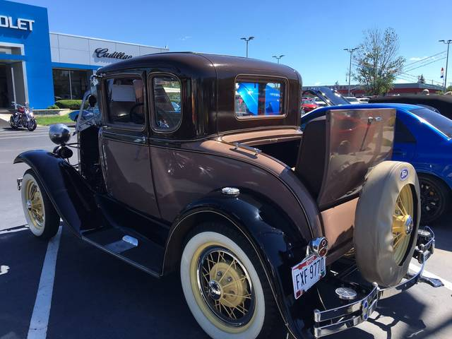 Lloyd Blubaugh, of Kalida owns this 1931 Ford Model A Coupe. He has owned it for four years and has fun driving it.