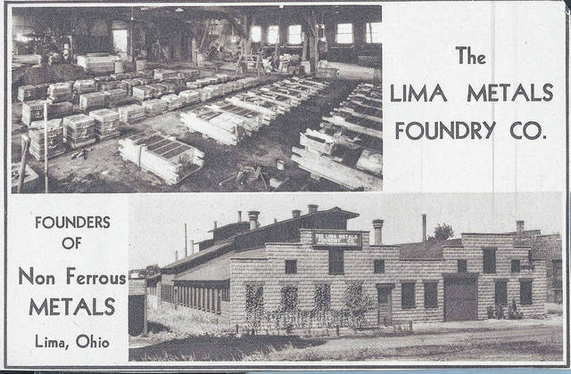 This undated image shows Lima Metals Foundry, another company that called the Greenlawn Avenue industrial area home.