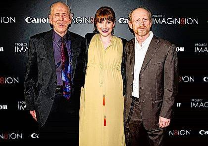 "FILE - In this Nov. 15, 2011 file photo, Ron Howard, right, his daughter Bryce Dallas Howard and his father Rance Howard attend the premiere of ""When You Find Me,"" inspired by Canon's ""Project Imagin8ion"" contest, in New York. Director Ron Howard says his actor father Rance Howard has died at age 89. Howard announced his father's passing Saturday, Nov. 25, 2017, on Twitter. The elder Howard also was the father of actor Clint Howard and grandfather of actresses Bryce Dallas Howard and Paige Howard. (AP Photo/Charles Sykes, File)"