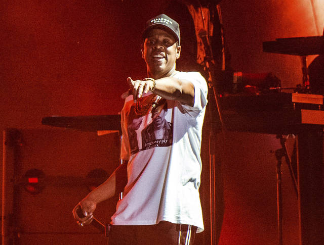 Jay-Z performs Oct. 13 at the Austin City Limits Music Festival in Austin, Texas. The rapper was nominated for eight Grammy nominations Tuesday. The 60th Annual Grammy Awards will air on CBS on Sunday, Jan. 28 from New York.