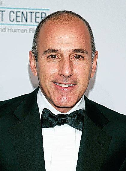 """FILE - In this Oct. 15, 2013, file photo, Matt Lauer arrives at an event in New York. NBC News announced Wednesday, Nov. 29, 2017, that Lauer was fired for """"inappropriate sexual behavior."""" (Photo by Carlo Allegri/Invision/AP, File)"""