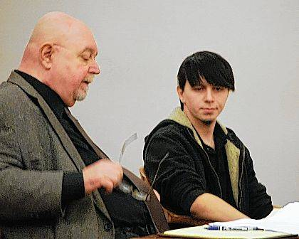 Cody Fuller, right, appeared in court Wednesday for a hearing to suppress evidence in the rape case filed against him.