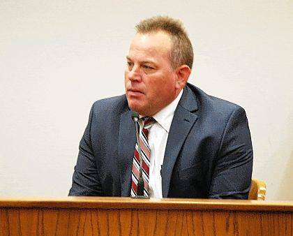 J Swygart | The Lima News Detective Kent Miller of the Lima Police Department testified Wednesday during a hearing in Allen County Common Pleas Court in the rape case against Cody Fuller of Lima.