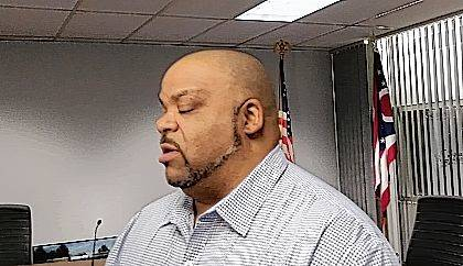 Third Ward Councilman Jesse Lowe II responds to questions after Lima City Council's Neighborhood Concerns Committee voted down a proposed landlord registry Monday.