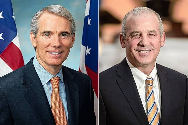 Rob Portman, left, and Matt Huffman
