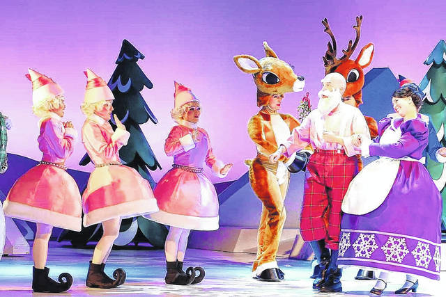 """Rudolph the Red-Nosed Reindeer: The Musical"" will be staged tonight at Niswonger Performing Arts Center, Van Wert."
