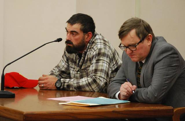 J Swygart | The Lima News Charles Farsht, 35, of Defiance, will be sentenced Feb. 5 for his role in the illegal transportation and dumping of scrap automobile tires inside the city of Lima. He appeared in court Monday with attorney Michael Short.
