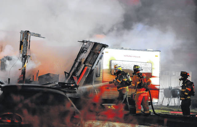 Firefighters were called to Glenn Avenue late Tuesday.
