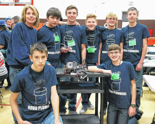 Delphos St. John's Lego robotics team competed recently.