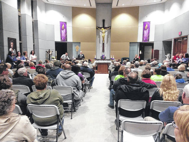 Nearly 150 people who lost loved ones in the last year gathered at St. Rita's chapel for a celebration of life.