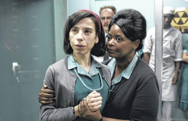 "Sally Hawkins, left, and Octavia Spencer are shown in a scene from the film ""The Shape of Water."" On Monday, Hawkins was nominated for a Golden Globe for best actress in a motion picture drama for her role in the film. The 75th Golden Globe Awards will be held on Sunday, Jan. 7, 2018 on NBC. (Fox Searchlight Pictures via AP)"