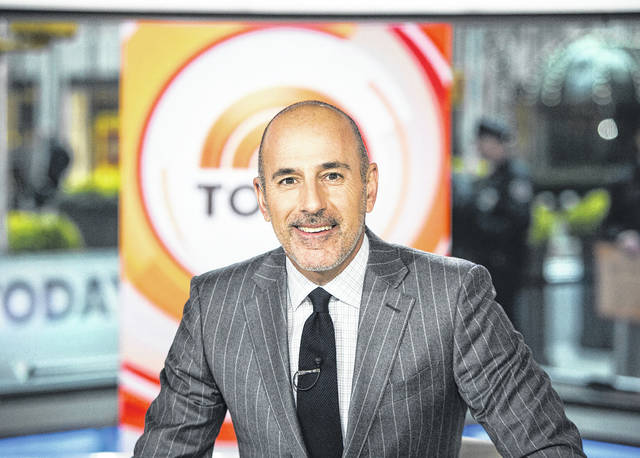"Matt Lauer on the set of the ""Today"" show in New York.  (Nathan Congleton/NBC via AP)"