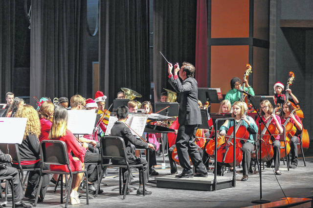 The Lima Area Youth Orchestra performs a holiday concert at Lima Senior High School in a past year.