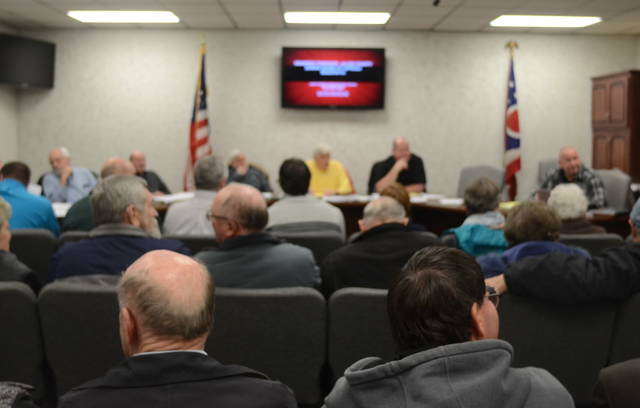 A group of 50 Shawnee Township residents gathered at Tuesday's Zoning Board of Appeals meeting to voice their displeasure with a potential Casey's General Store on Shawnee Road across from Shawnee United Methodist Church.