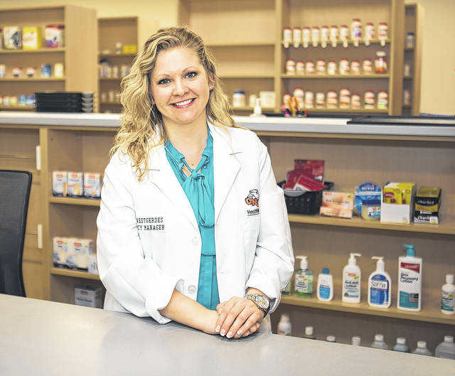 The ONU HealthWise Pharmacy is managed by registered pharmacist Katie Westgerdes, a 2013 graduate of the ONU College of Pharmacy.