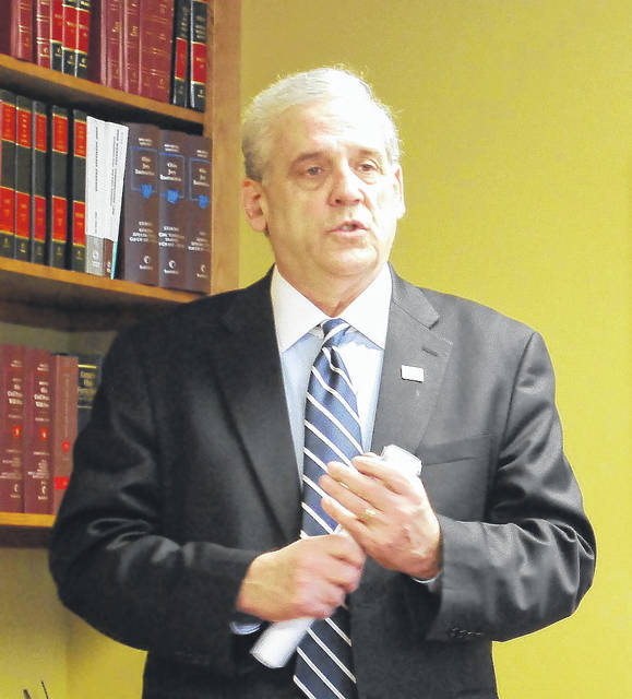 Longtime Lima attorney Lawrence Huffman formally kicked off his candidacy for a judicial seat on the Allen County Common Pleas Court with a noon press conference Thursday. Huffman is one of two Republicans who have announced their candidacies for the position, assuring a May primary race.