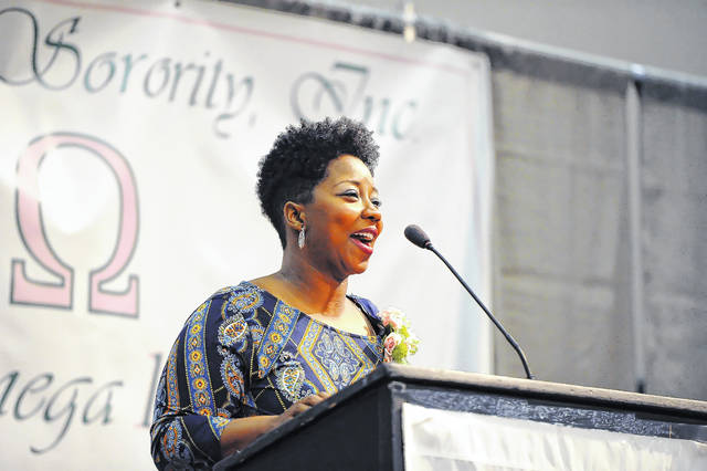 Pastor Stephanie Cunningham was the keynote speaker during Monday's 23rd Annual Dr. Martin Luther King, Jr. Memorial Breakfast at Veterans Memorial Civic Center.