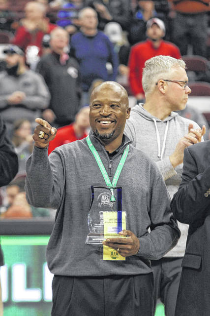 William White, a Lima Senior graduate who started for four years at Ohio State and had a long NFL career was added to the Ohio High School Athletic Association's Circle of Honor at the boys state basketball tournament on Saturday. Former OSU basketball standout Dennis Hopson and former Southwest Louisiana star Dwight Lamar also were honored during Saturday's ceremony.