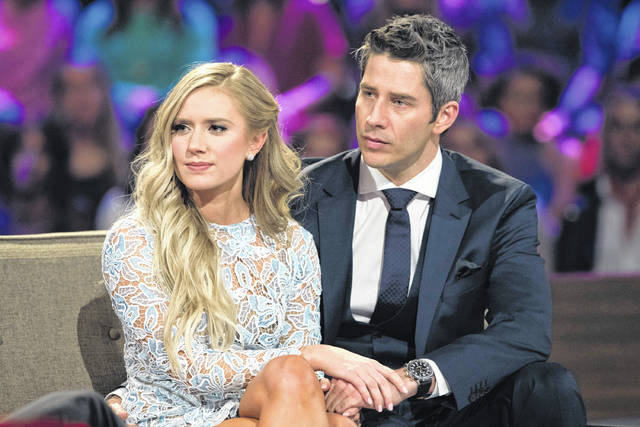 "Lauren Burnham, left, and Arie Luyendyk Jr. appear on ""The Bachelor: After the Final Rose."" Luyendyk says he's willing to take the heat for dumping Becca Kufrin to find true love with runner-up Burnham. His decision to break up with Kufrin during Monday's season finale after they'd become engaged prompted such descriptive headlines as ""horror,"" ""brutal"" and ""gut-wrenching,"""