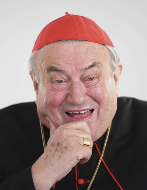 FILE---- This picture taken Nov.30, 2016 shows German Bishop Cardinal Karl Lehmann who died 81- years-old in Mainz, Germany, Sunday, March 11, 2018. (Arne Dedert/dpa via AP)