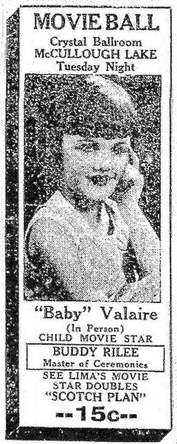 A newspaper ad from 1932 promotes her act.
