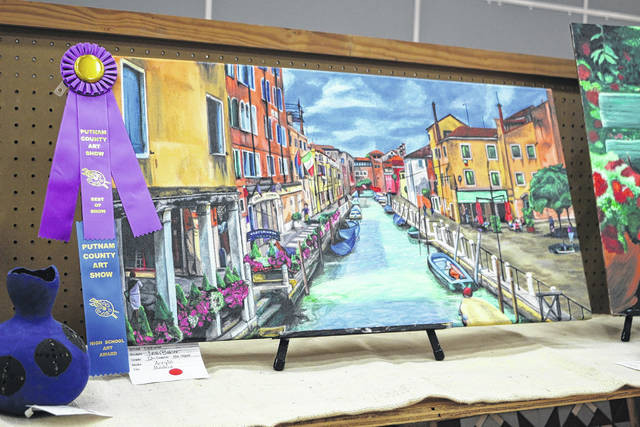 "Leah Baker, from Continental, won a Best of Show award for her painting, ""Madrid."""