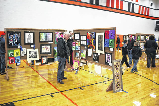 Hundreds of people checked out the Putnam County Arts Festival Sunday at Ft. Jennings High School.