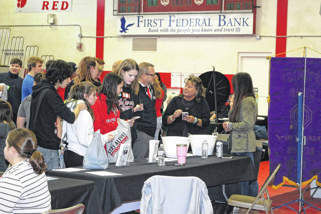 Students from Delphos Jefferson and Delphos St. John's High Schools participated in Aware Fair.