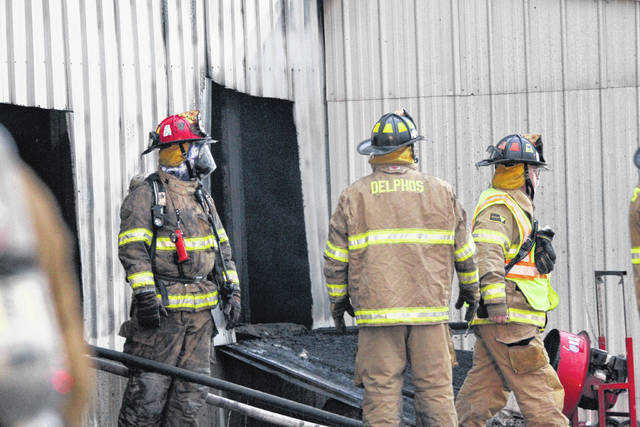 Fire broke out Monday at 1601 Gessel Drive in Delphos on Monday evening.
