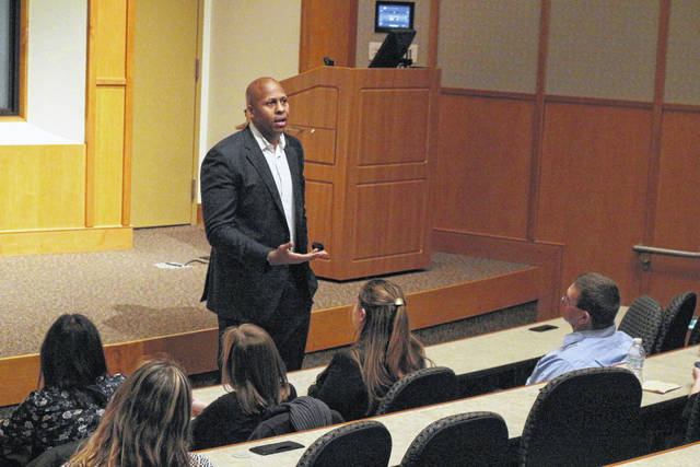 Democrat Rob Richardson is running for Ohio Treasurer. He appeared at a forum in Ada Friday night.
