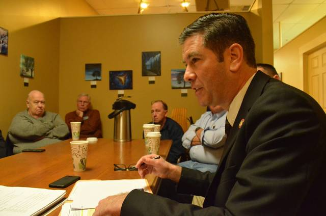 Rep. Craig Riedel (R- District 82) met with Auglaize County officials and residents at Cloud Nine Cafe Friday to discuss issues important to Auglaize County.