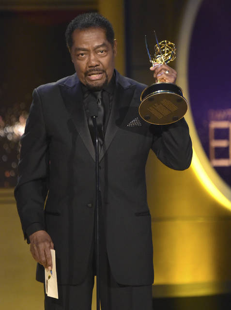 "James Reynolds accepts the award for outstanding lead actor in a drama series for ""Days of Our Lives"" at the 45th annual Daytime Emmy Awards at the Pasadena Civic Center on Sunday in Pasadena, Calif."