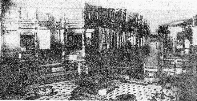 The interior of the American National Bank, pictured in an unknown year.