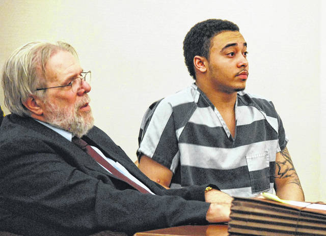 J Swygart | The Lima News  Cory Jackson, 21, of Lima, was sentenced Wednesday to 30 years to life in prison for the 2016 murder of Amari Gooding at the Main Street Irish Pub in downtown Lima.