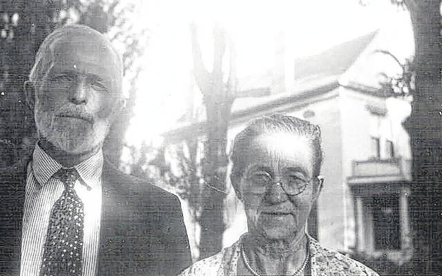 Ephriam Basinger, left, was a preacher from Bluffton who led the Christian Catholic Church in Lima. He also travelled by train to Mansfield, where mobs and police were less-than-welcoming to the church. He's pictured here with his wife, Levina.